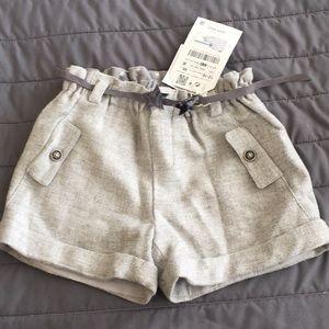 Zara baby 12m-18m light gray bermuda shorts NEW